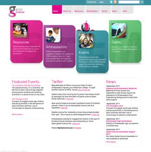 Global Science 2011 Web Site