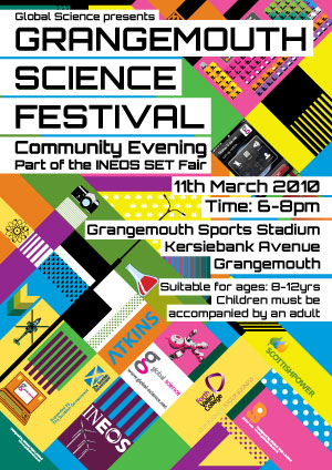 Grangemouth Science Festival Poster 2010