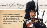 Great Glen Piping Web Site Image