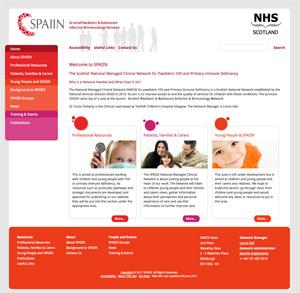 NHS SPAIIN Web Site